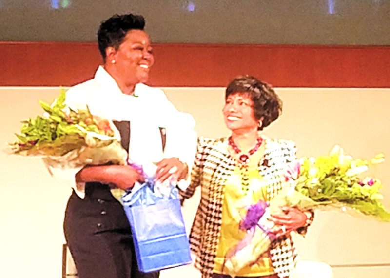 """e434cd70325 The PushTech 2020 summit hosted """"Mother s of the NBA"""" on April 12 and  featured Wanda Durant"""